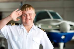 boy wearing pilot costume